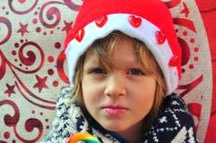 Muchacho de la Navidad Imagenes de archivo