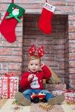 Muchacho de la Navidad Fotos de archivo libres de regalías