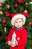 Muchacho de la Navidad Foto de archivo libre de regalías