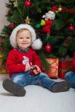 Muchacho de la Navidad foto de archivo