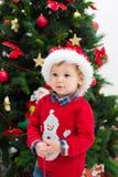 Muchacho de la Navidad Fotografía de archivo libre de regalías