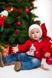 Muchacho de la Navidad imagen de archivo