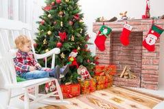 Muchacho de la Navidad imágenes de archivo libres de regalías