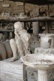 Muchacho de la piedra de Pompeya Imagenes de archivo