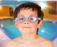 Muchacho de la piscina Fotografía de archivo libre de regalías