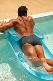 Muchacho de la piscina Imagen de archivo libre de regalías