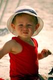 Muchacho de la playa Fotografía de archivo