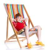 Muchacho de la playa Foto de archivo libre de regalías