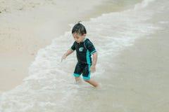 Muchacho de la playa Imagen de archivo