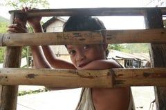Muchacho de la tribu de Mangyan Fotografía de archivo