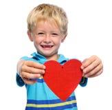 Muchacho de las tarjetas del día de San Valentín Fotografía de archivo libre de regalías