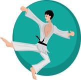 Muchacho de los artes marciales ilustración del vector