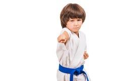 Muchacho de los artes marciales foto de archivo