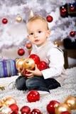 Muchacho de Navidad Imagen de archivo libre de regalías