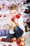 Muchacho de Navidad Fotografía de archivo libre de regalías