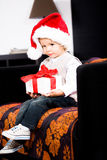 Muchacho de Navidad Imágenes de archivo libres de regalías