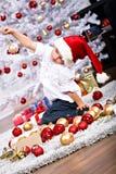 Muchacho de Navidad Fotos de archivo