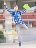 Muchacho de nuevo a escuela Foto de archivo