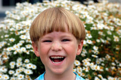 Muchacho de risa Fotos de archivo libres de regalías