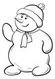 Muchacho de Snowmens, contornos Foto de archivo
