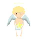 Muchacho del ángel de la historieta Imágenes de archivo libres de regalías