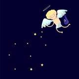 Muchacho del ángel de la historieta Fotos de archivo