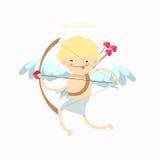 Muchacho del ángel del bebé Imagenes de archivo