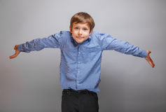 Muchacho del adolescente 10 años de aspecto europeo Foto de archivo libre de regalías