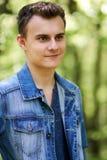Muchacho del adolescente al aire libre Fotos de archivo