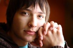 Muchacho del adolescente mirado juicioso Fotografía de archivo libre de regalías