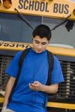 Muchacho del adolescente que escucha el reproductor Mp3 Imágenes de archivo libres de regalías