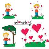 Muchacho del amor Imágenes de archivo libres de regalías