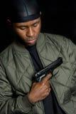 Muchacho del arma del gángster Fotos de archivo libres de regalías