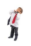 Muchacho del asunto en el teléfono Foto de archivo libre de regalías