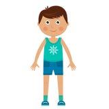Muchacho del carácter en ropa de deportes Imagen de archivo libre de regalías