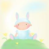 Muchacho del conejo del bebé Foto de archivo libre de regalías