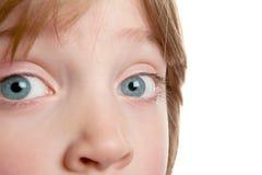 Muchacho del diafragma del niño del ojo imagen de archivo
