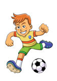 Muchacho del fútbol Imagenes de archivo