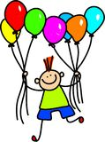 Muchacho del globo Imagen de archivo libre de regalías