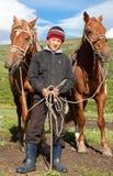 Muchacho del Kazakh Fotografía de archivo libre de regalías