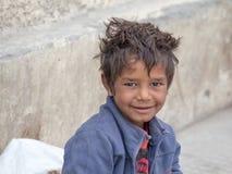 Muchacho del mendigo en Leh, la India Fotografía de archivo