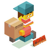 Muchacho del mensajero Imágenes de archivo libres de regalías