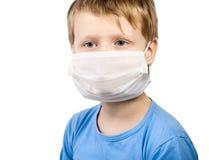 muchacho del niño de la enfermedad en el cuidado médico de la medicina quirúrgico Foto de archivo