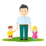 Muchacho del papá y del bebé ilustración del vector