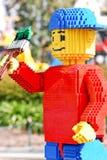 Muchacho del pintor de Lego en Legoland Foto de archivo libre de regalías