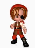 muchacho del pirata 3d Stock de ilustración