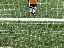 Muchacho del portero del fútbol Fotos de archivo libres de regalías