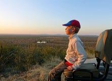Muchacho del safari Imagenes de archivo