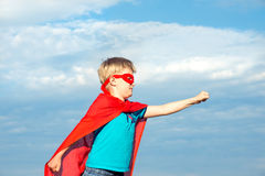 Muchacho del super héroe Imagen de archivo