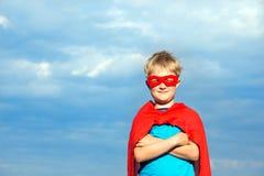 Muchacho del super héroe Imagen de archivo libre de regalías